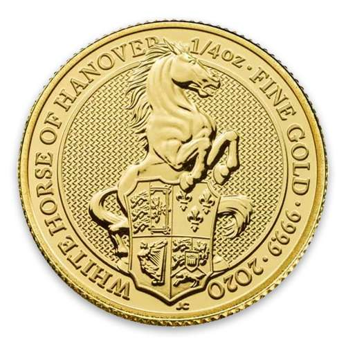 2020 1/4oz Gold Britain Queen's Beasts: The Horse of Hanover