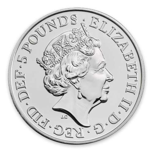 2019 2oz Silver Britain Queen's Beast: The Falcon of the Plantagenets
