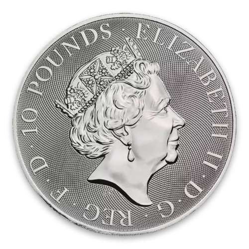 2019 10oz Britain Silver Queen's Beast : The Black Bull of Clarence
