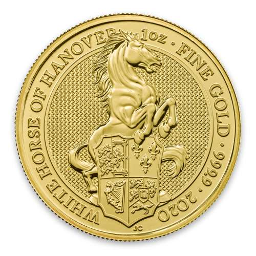 2020 1oz Gold Britain Queen's Beast - The White Horse of Hanover